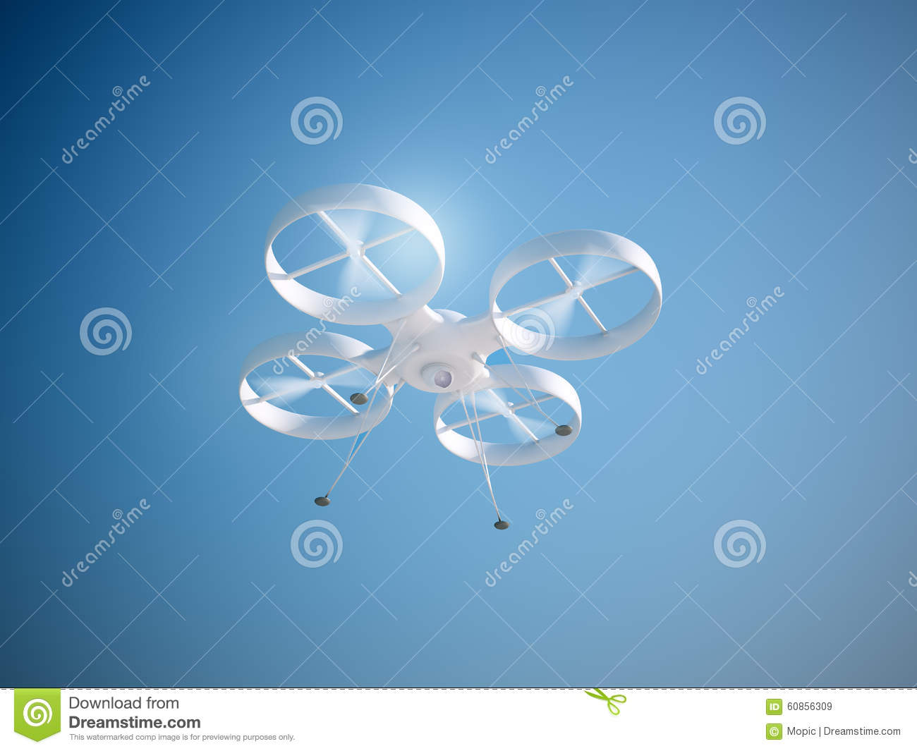Quadcopter â Drone With Equipment Royalty-Free Stock Image ...