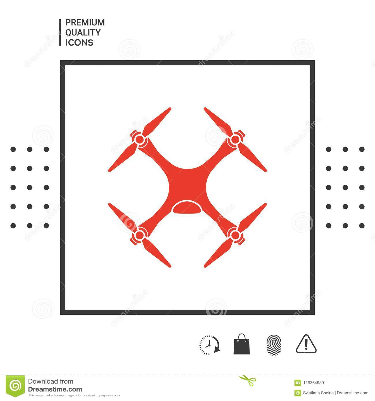 quadcopter drone icon signs and symbols graphic elements for your designstdreamstime