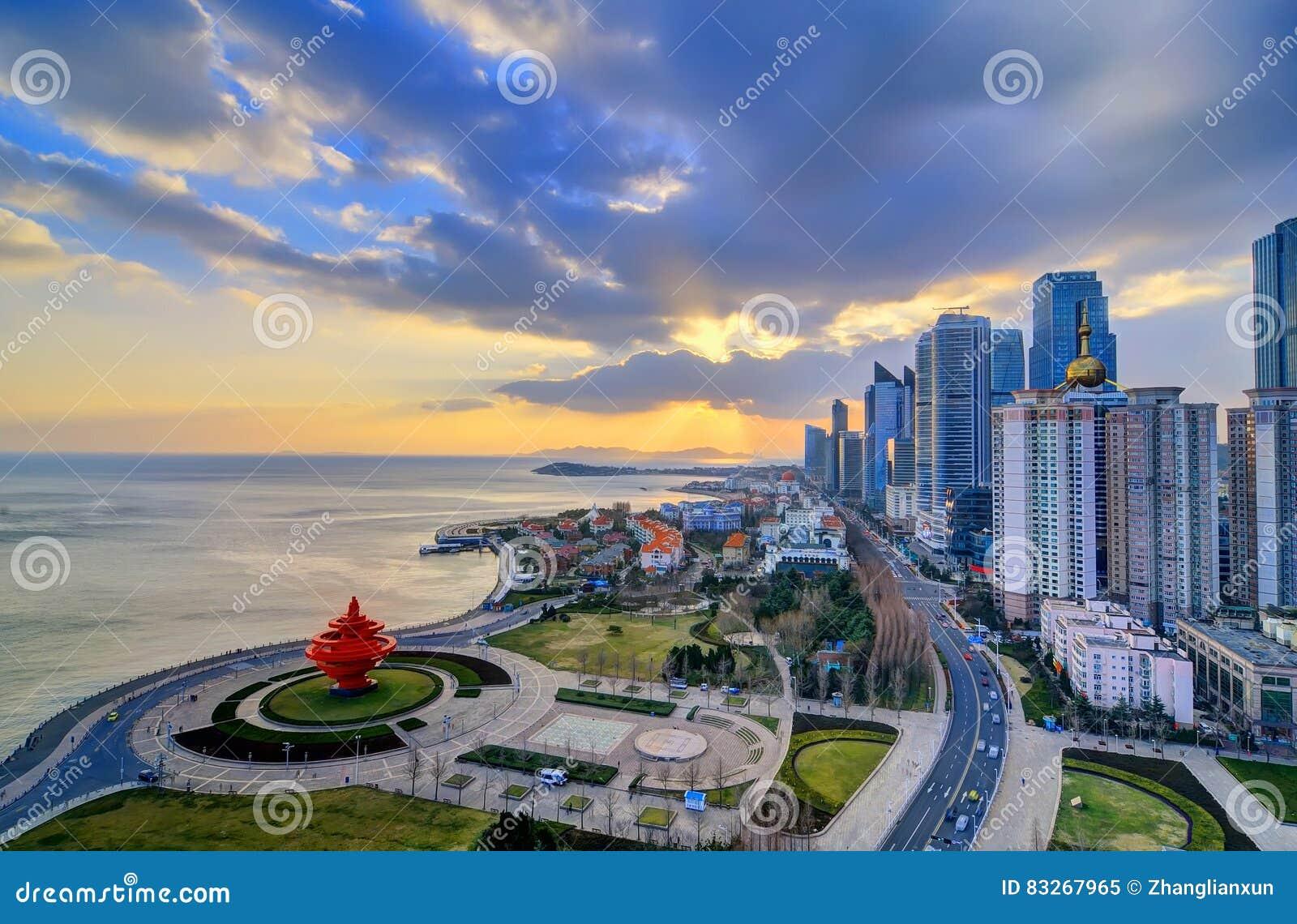 Quadrado de cidade em Qingdao