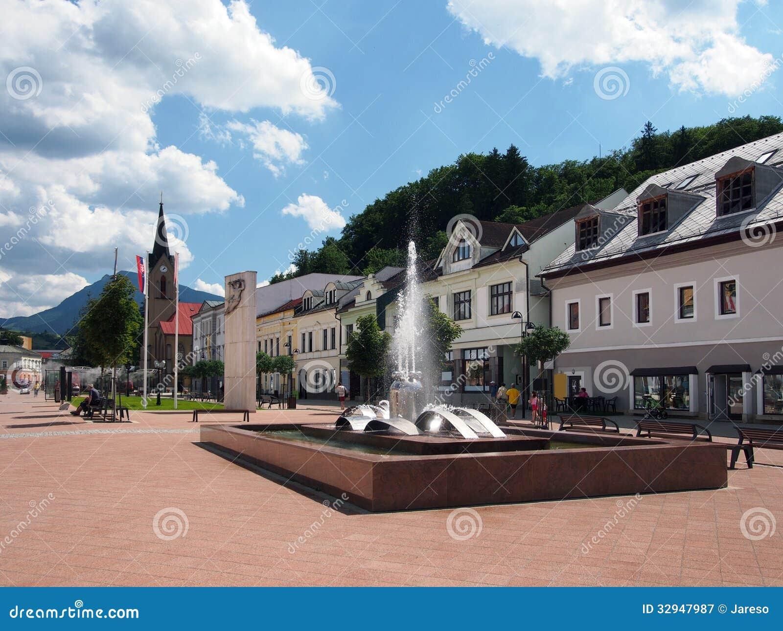 Quadrado de Hviezdoslav em Dolny Kubin