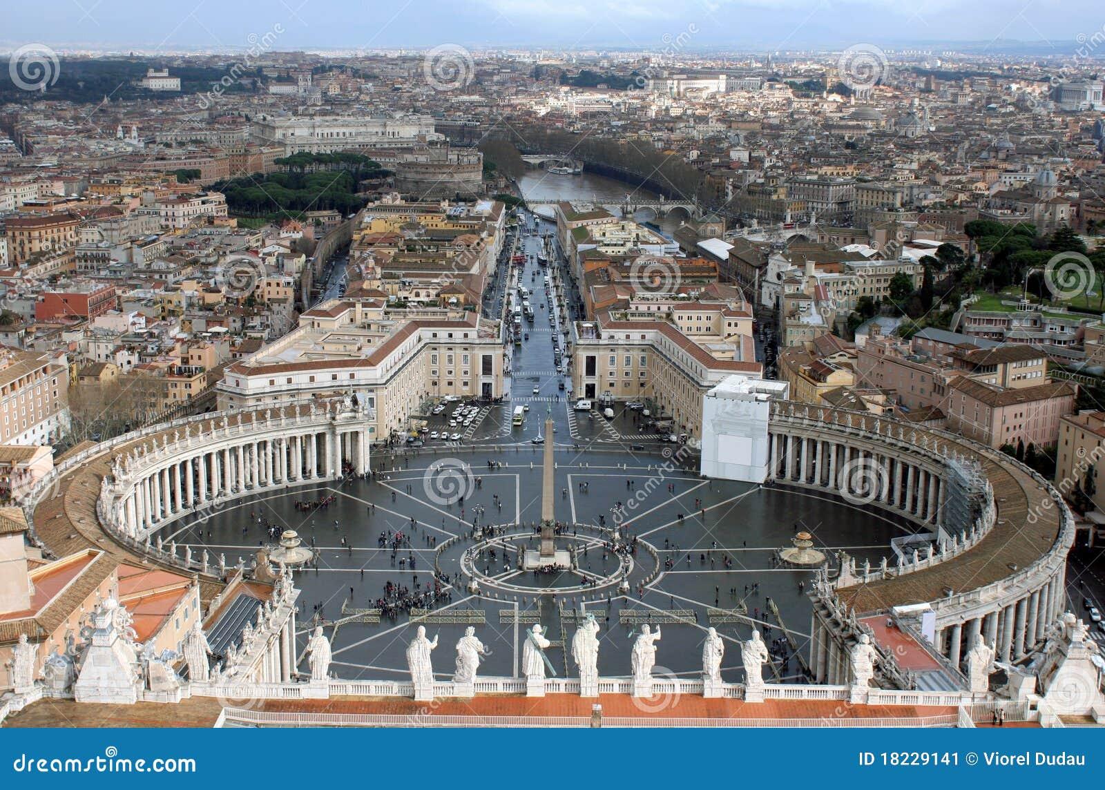 Quadrado de Peter de Saint. Roma. Italy.