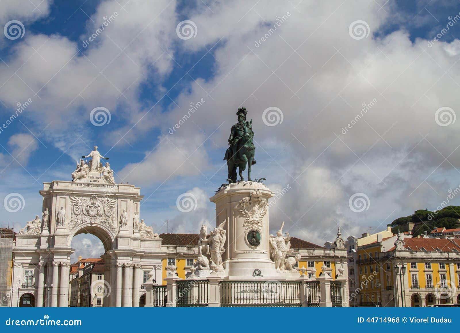 Quadrado do comércio de Lisboa