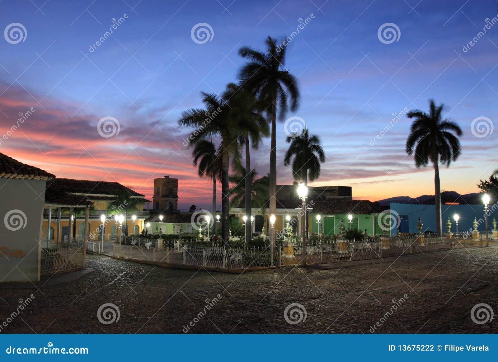 Quadrado principal em trinidad, Cuba