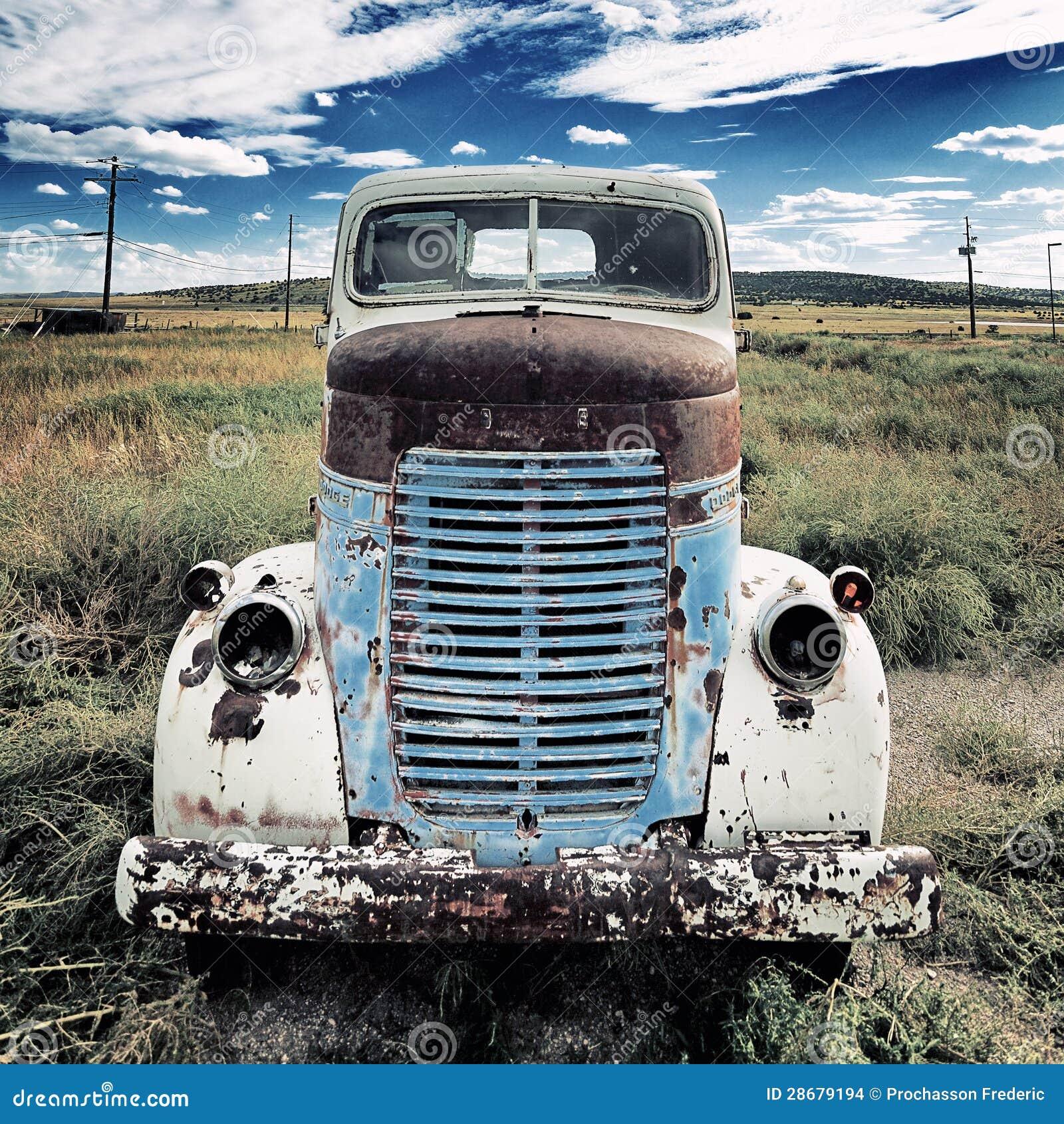 Quadrado velho do caminhão