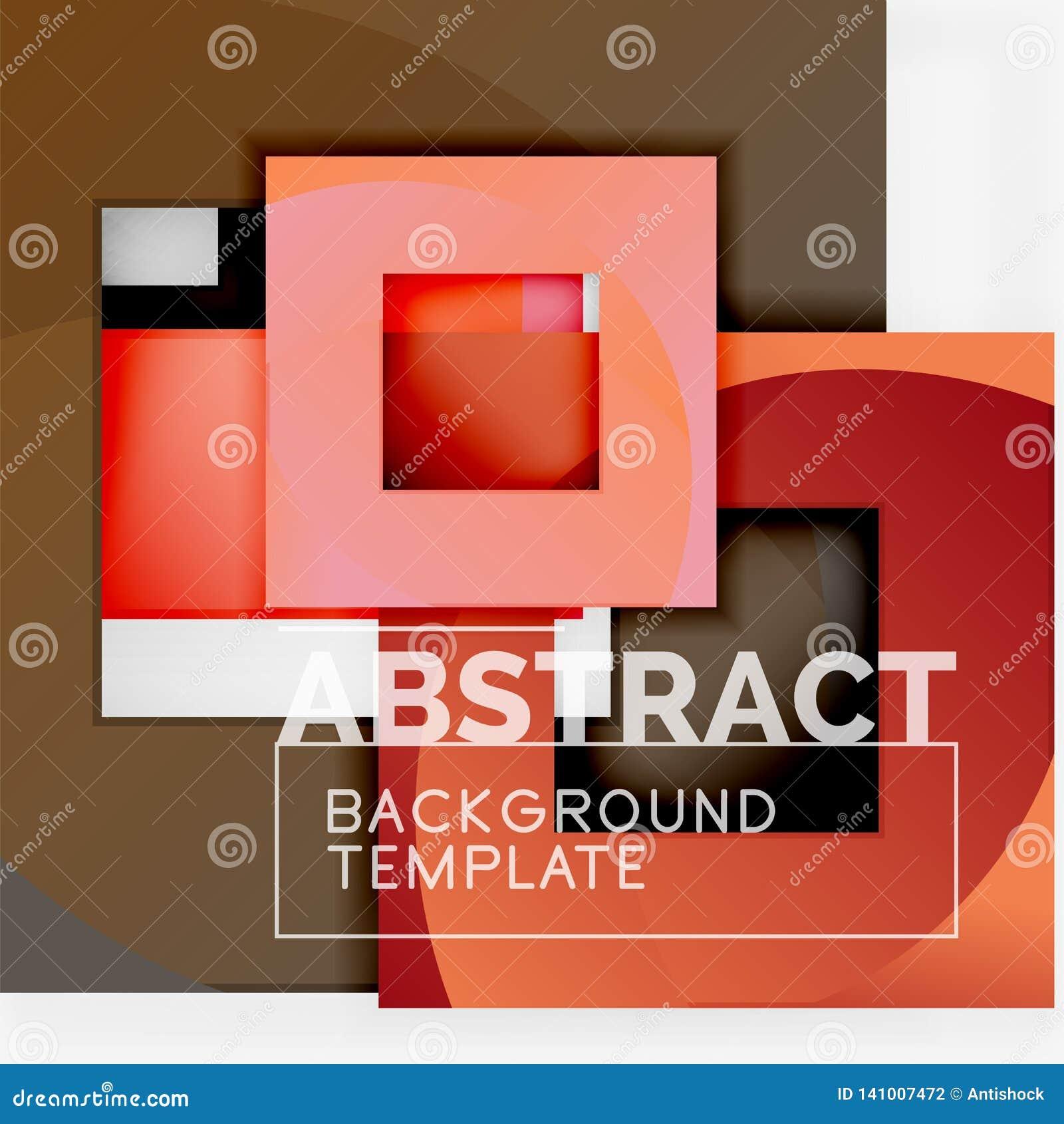 Quadrados abstratos do fundo, molde mínimo geométrico