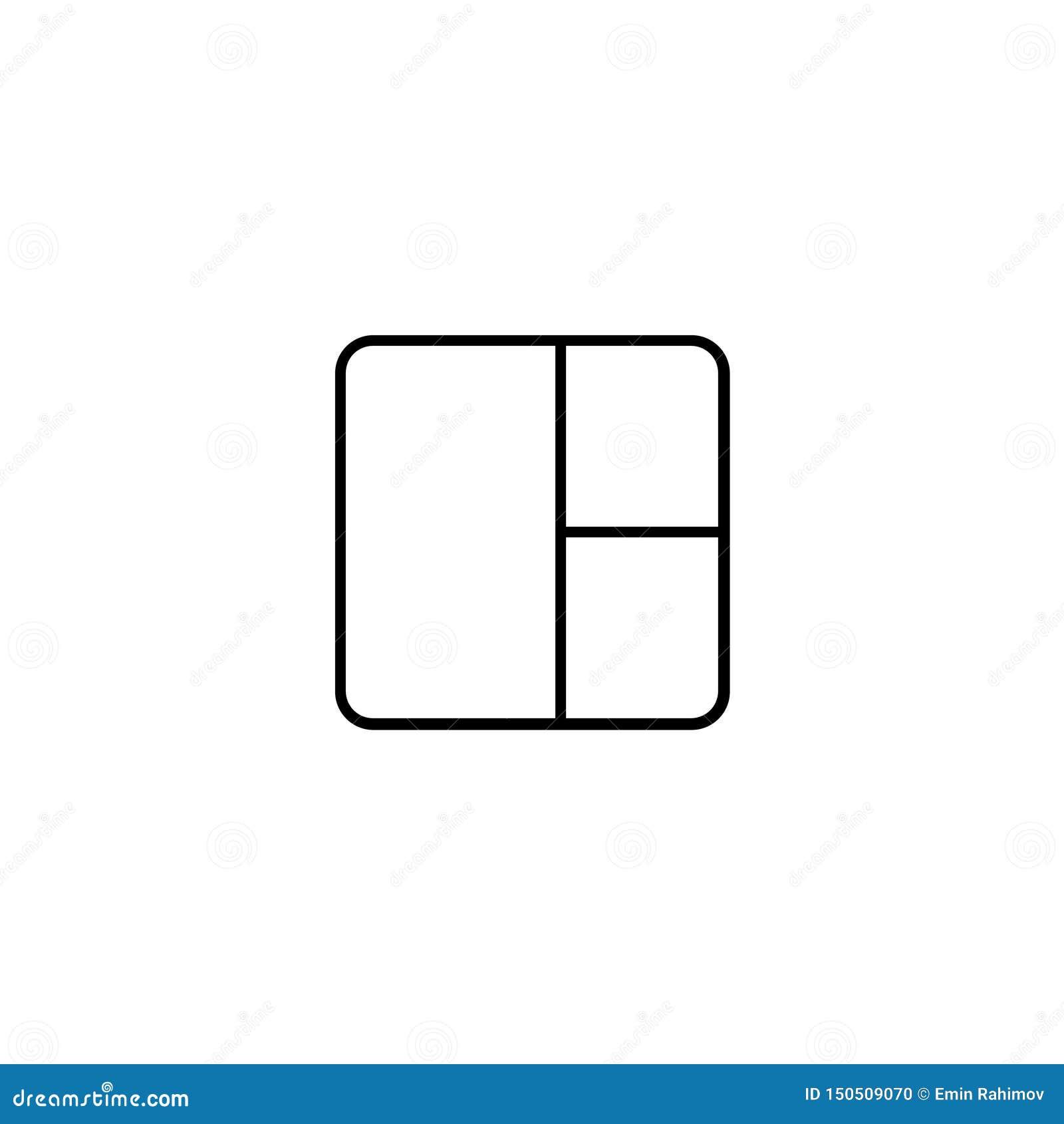 Quadrat mit Ikone der runden Ecken