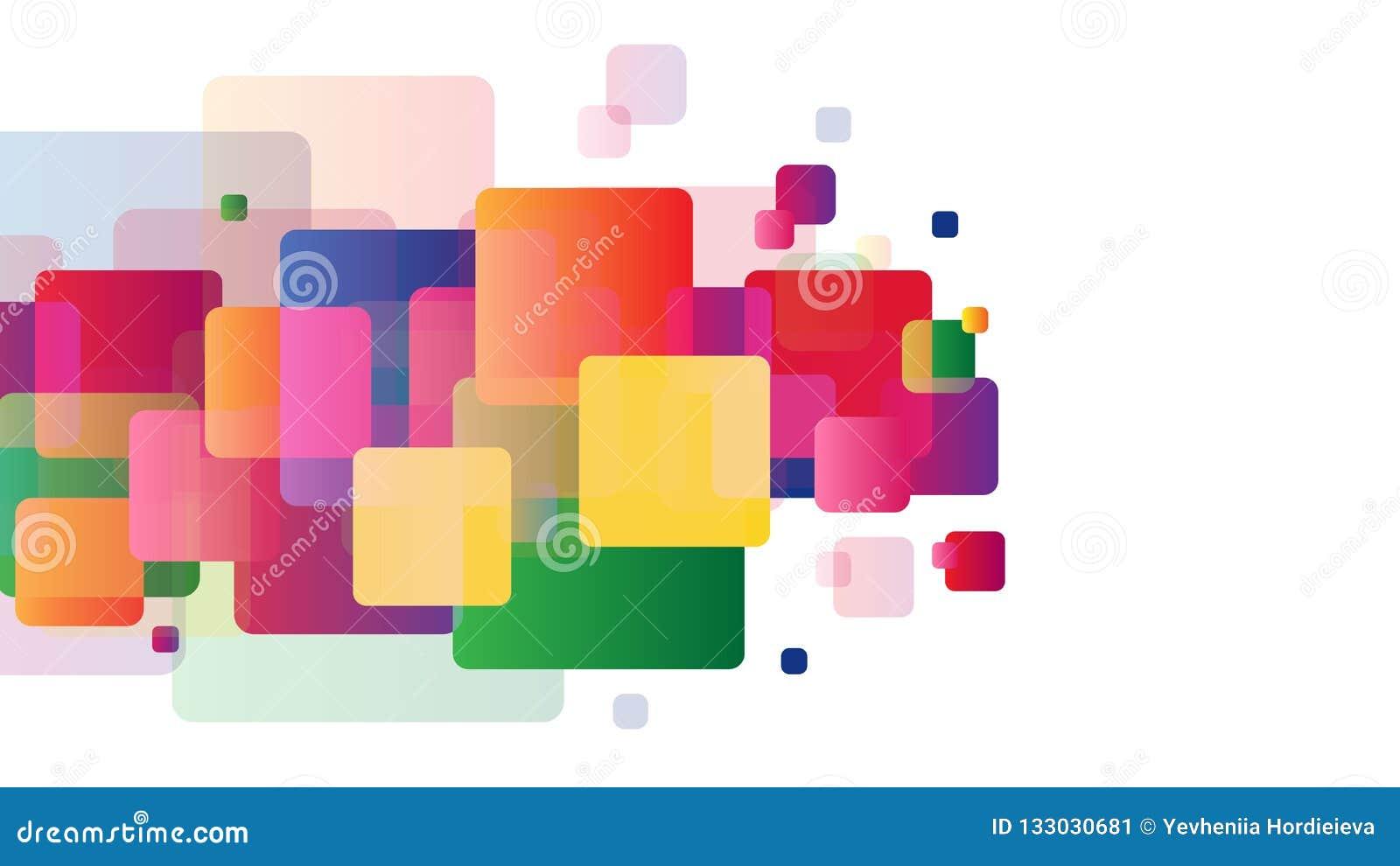 Quadrati variopinti di pendenza su fondo bianco Affare, cartella o modello della disposizione per la vostra progettazione Per le