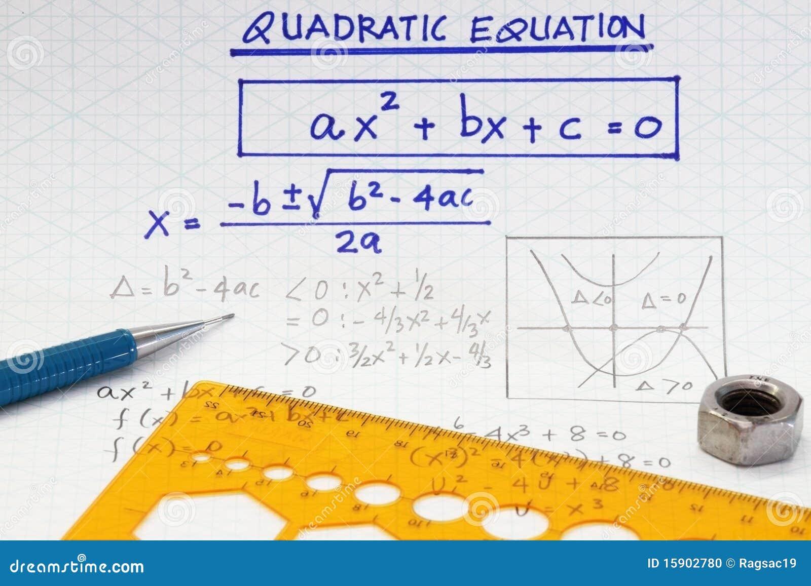 Quadratic Equations Stock Photo - Image: 15902780  Quadratic Equat...