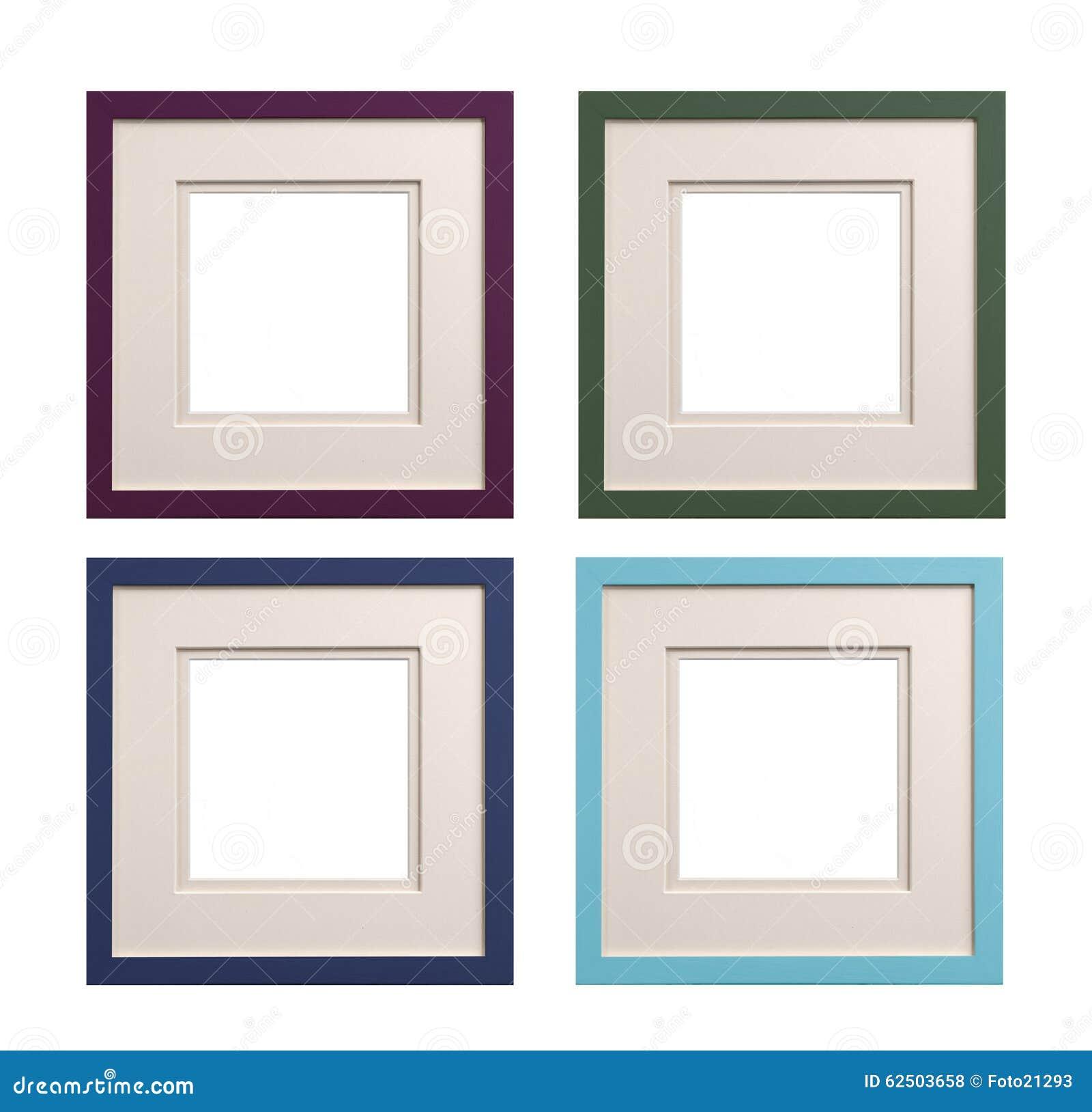 Quadratische Bilderrahmen Malvenfarben, Grün, Blau, Cyan-blau Mit ...