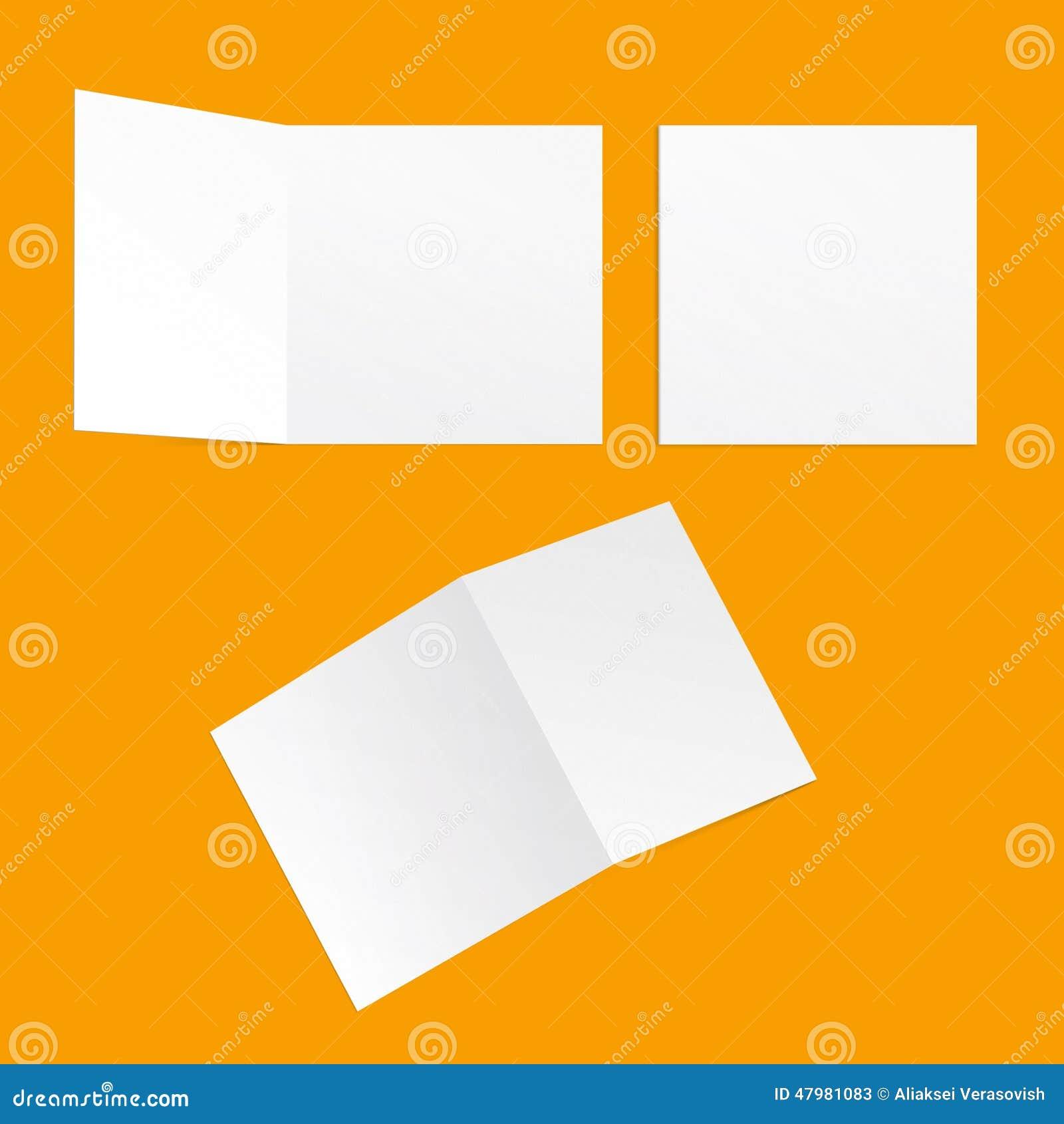 Quadratische Postkarten der Schablone
