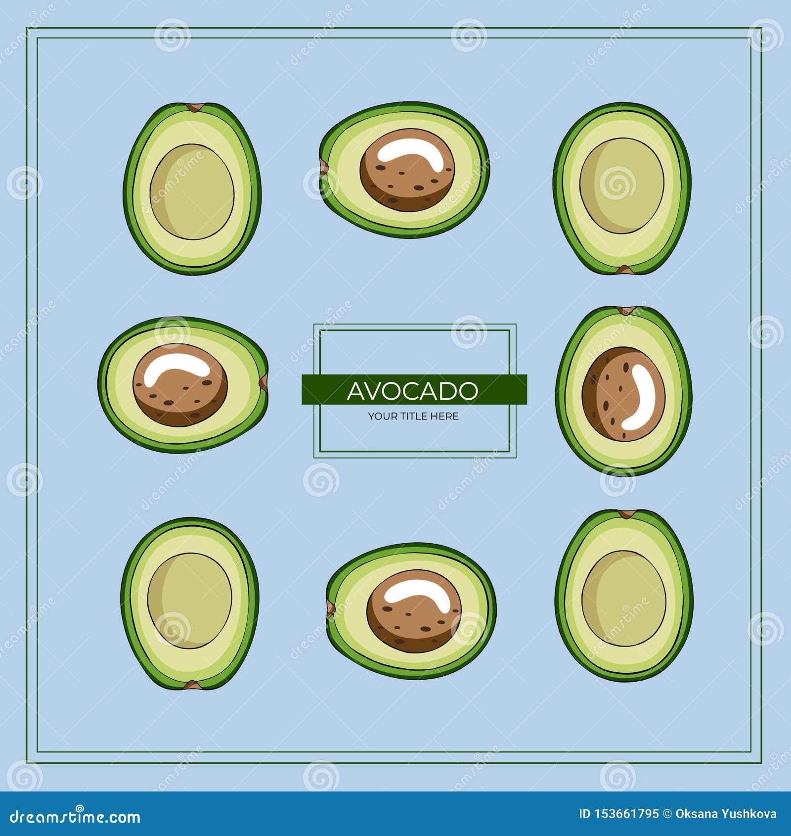 Quadratischer Rahmen gemacht von den grünen Avocadoscheiben auf einem blauen Hintergrund
