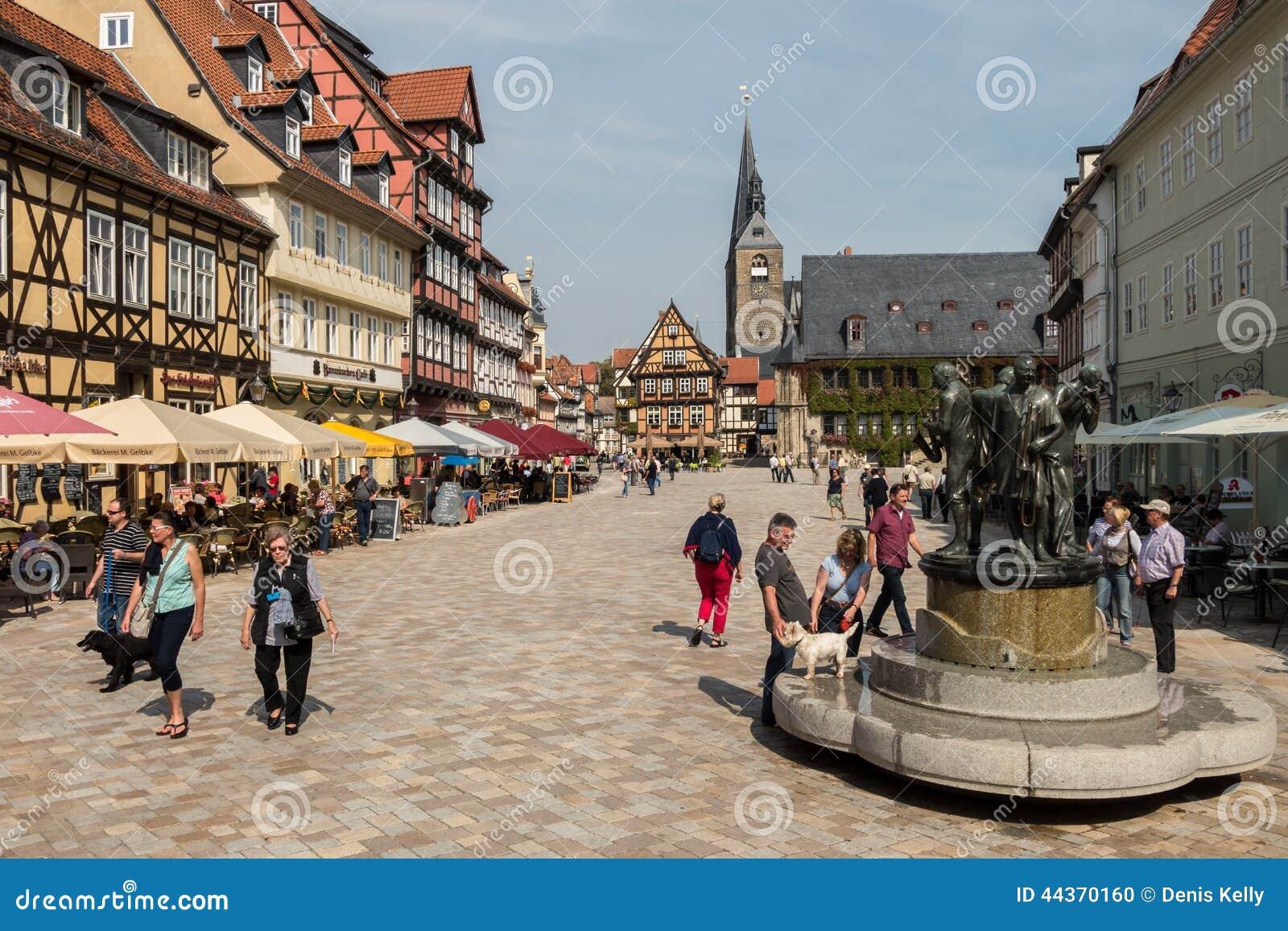 Quadrato del mercato in Quedlinburg, Germania