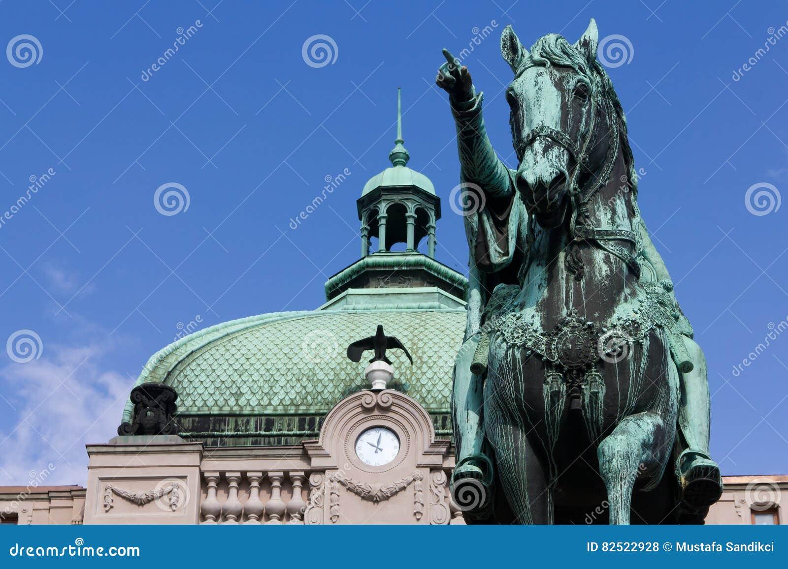 Quadrato della Repubblica, principe Mihailo Monument, Belgrado
