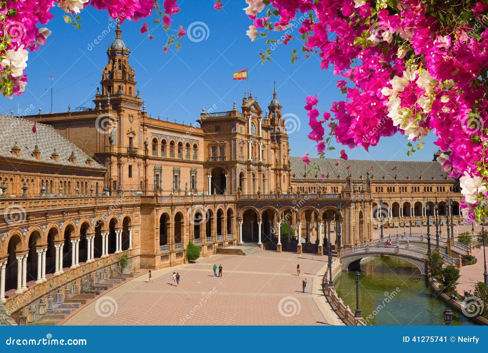 Quadrato di Famouse della Spagna in Siviglia, Spagna