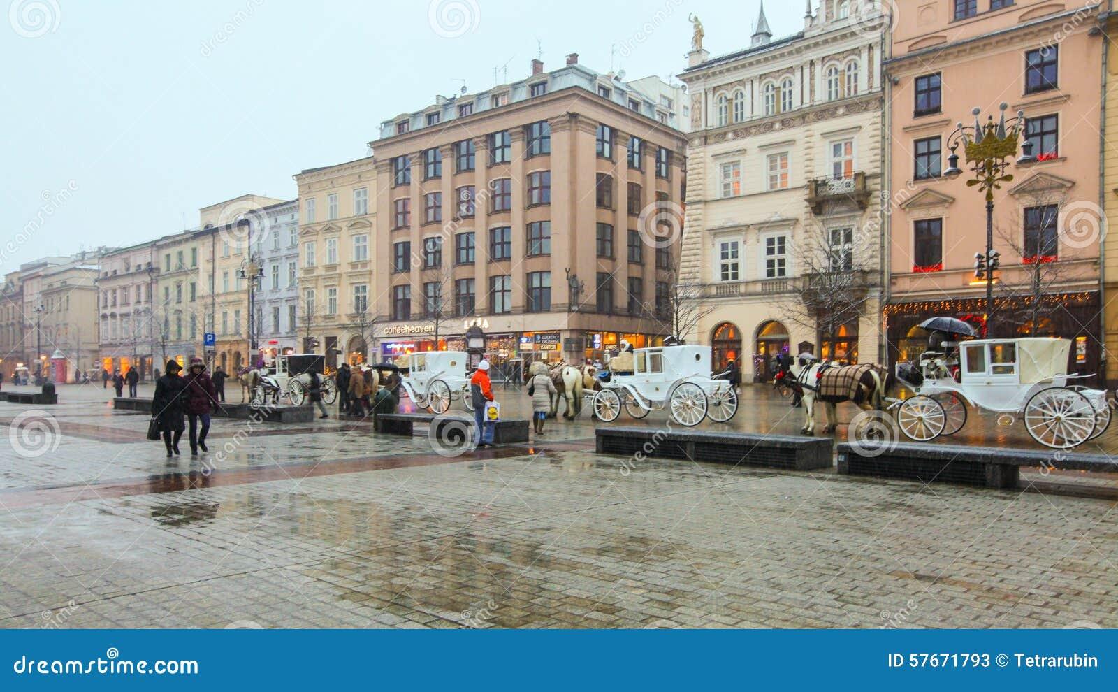 Quadrato principale a Cracovia