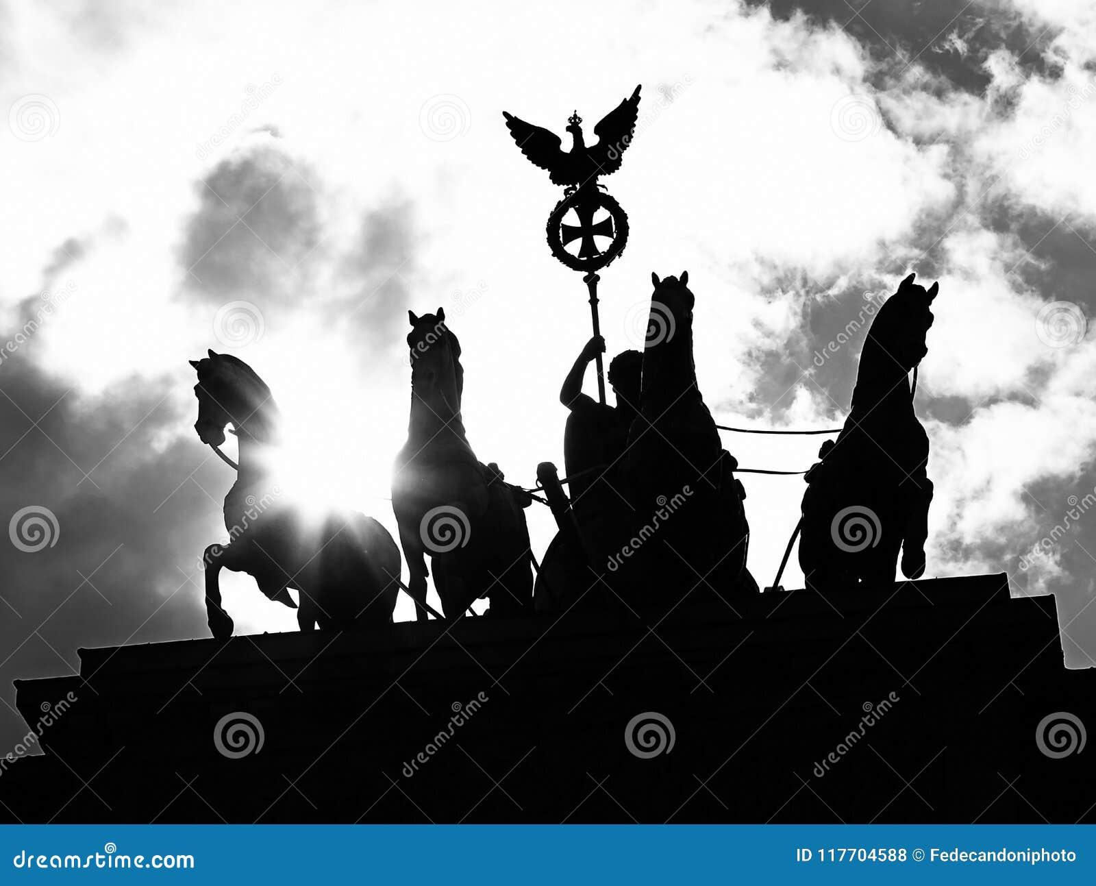 Quadriga With The Symbol Of The Roman Empire Of The Brandenburg