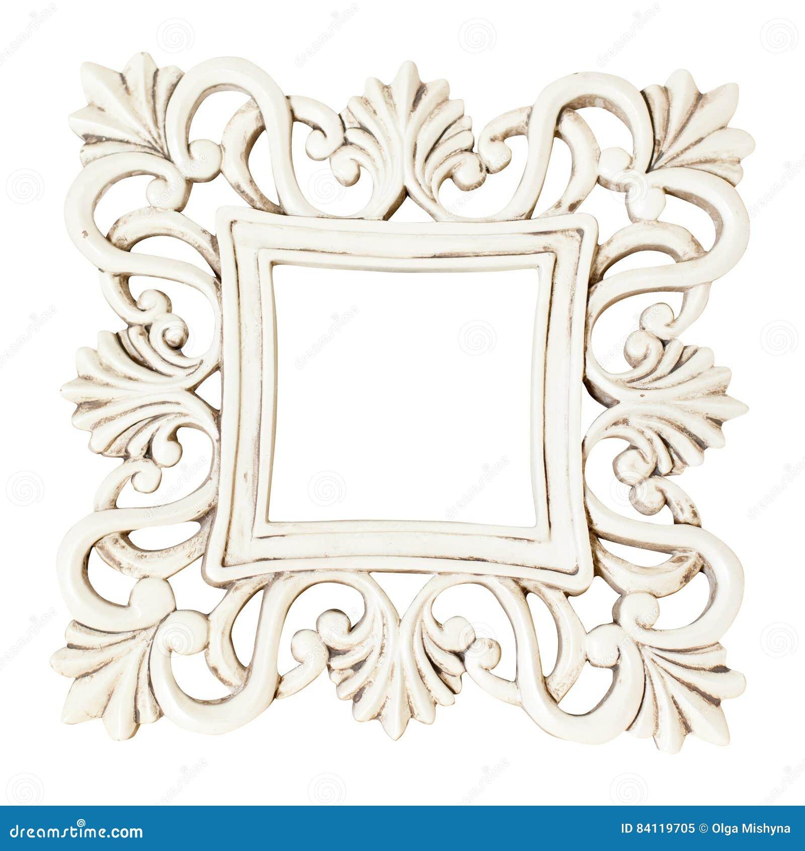 Quadro branco clássico do retângulo do vintage