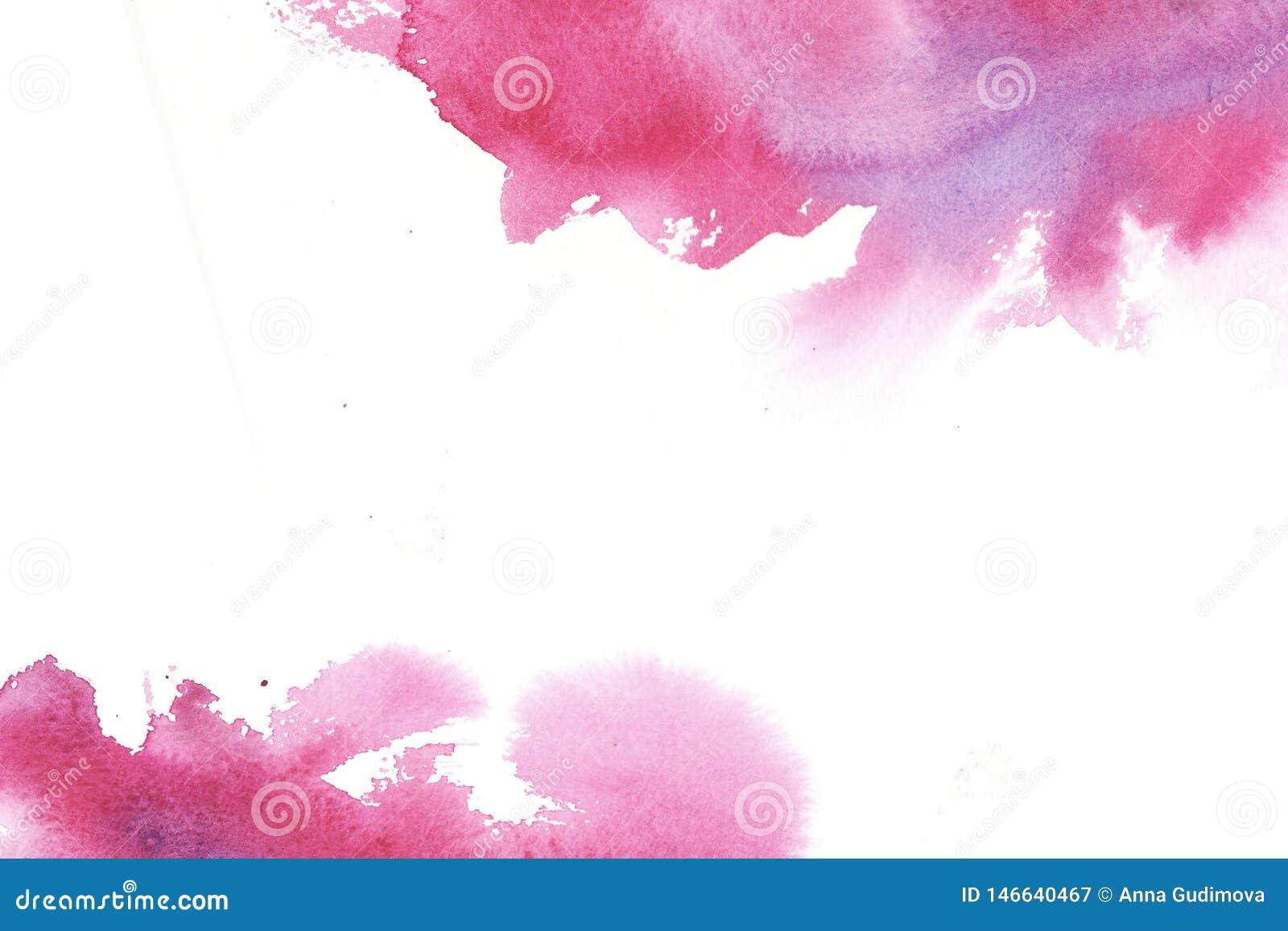 Quadro colorido tirado m?o do sum?rio da aquarela com manchas