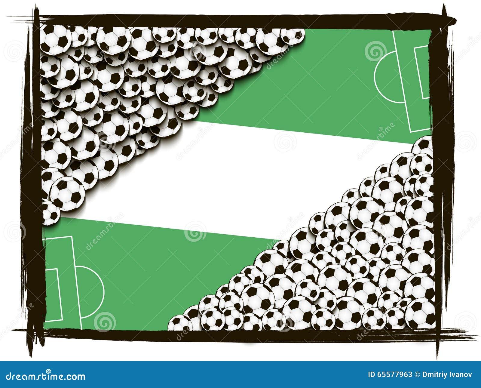 Quadro com bolas de futebol