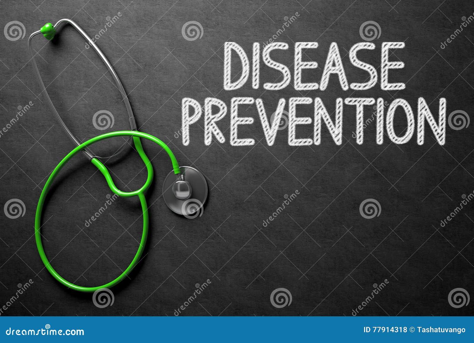 Quadro com conceito da prevenção da doença ilustração 3D