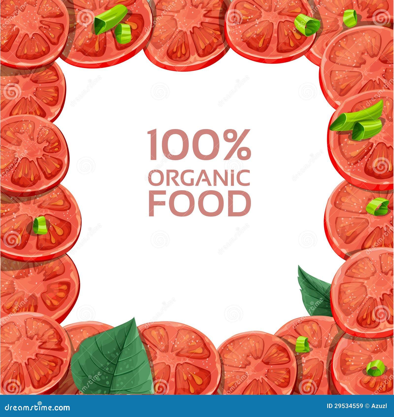 Quadro com fatias frescas do tomate