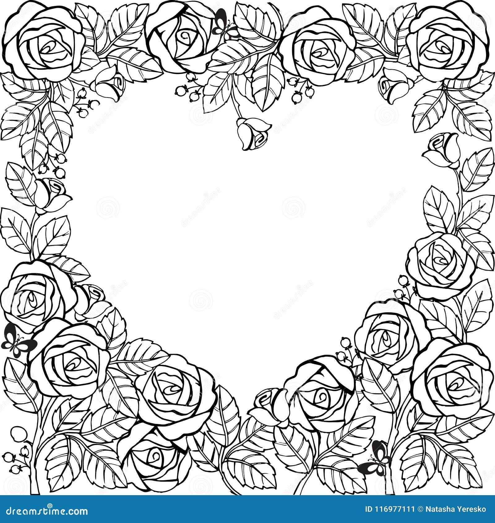 Quadro Da Flor Com Rosas E Coração Quadro Da Flor Para A