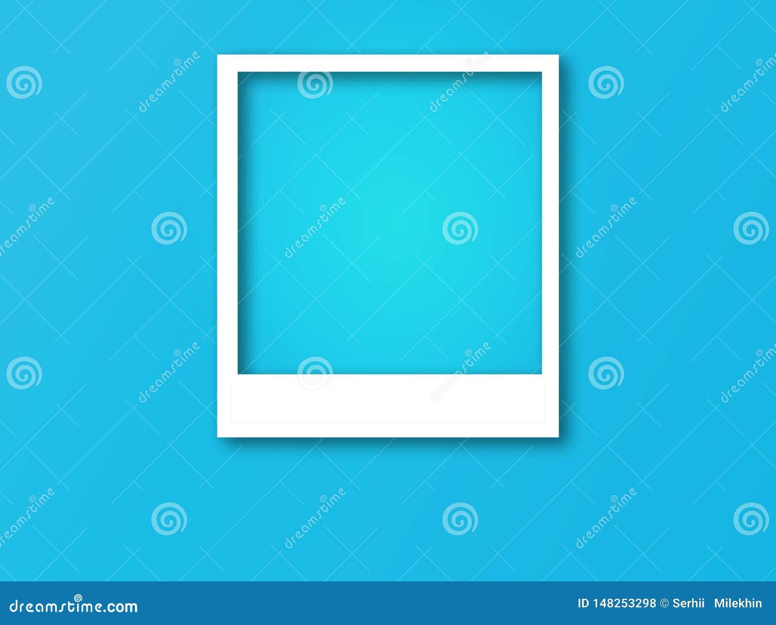 Quadro da foto com espaço para o texto e a sombra macia