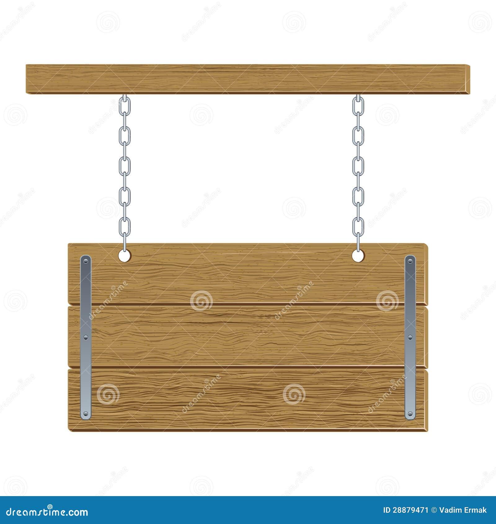 Quadro de avisos de madeira