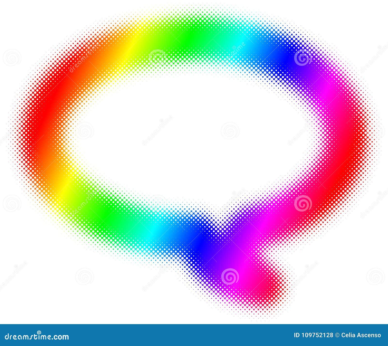 Quadro de discurso de intervalo mínimo da bolha do arco-íris