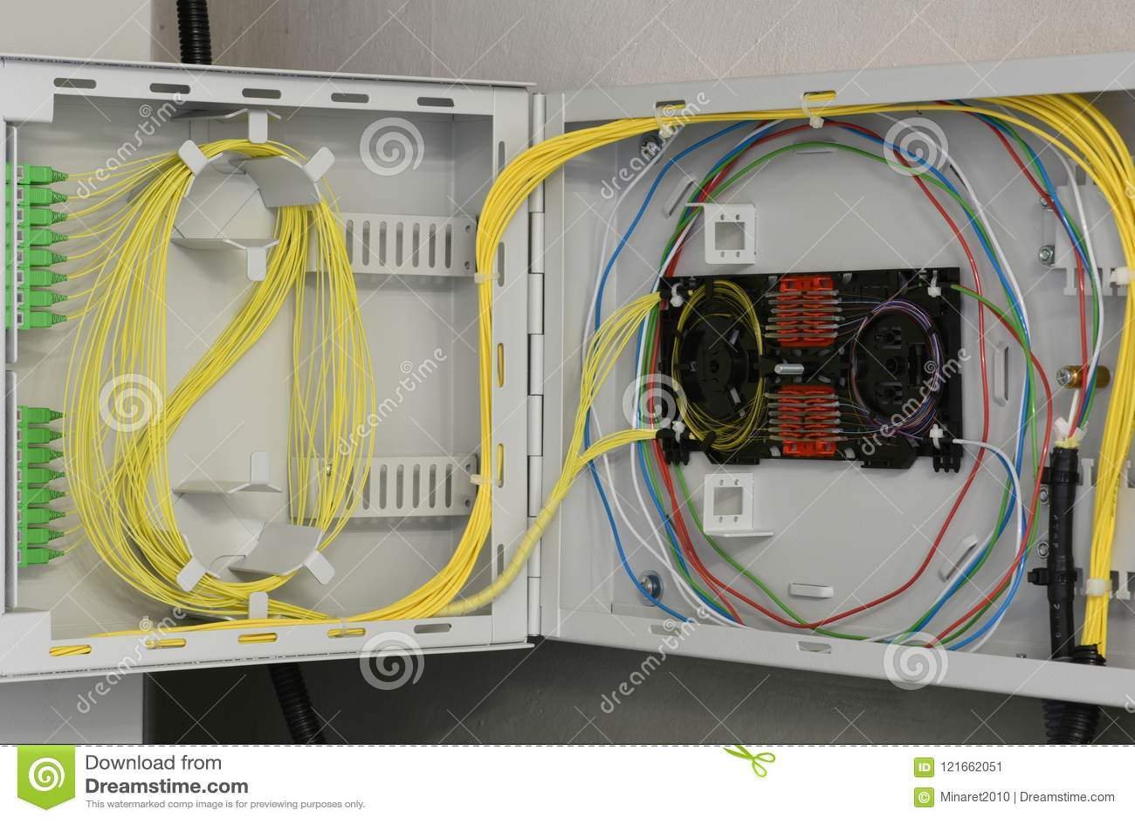 Quadro de distribuição de fibra ótica