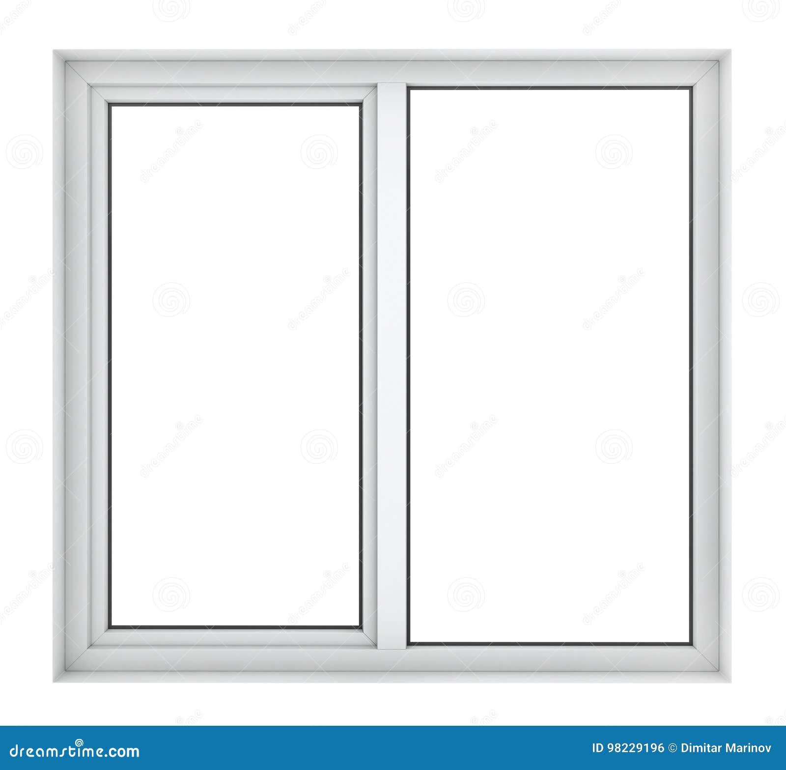 Quadro de janela plástico