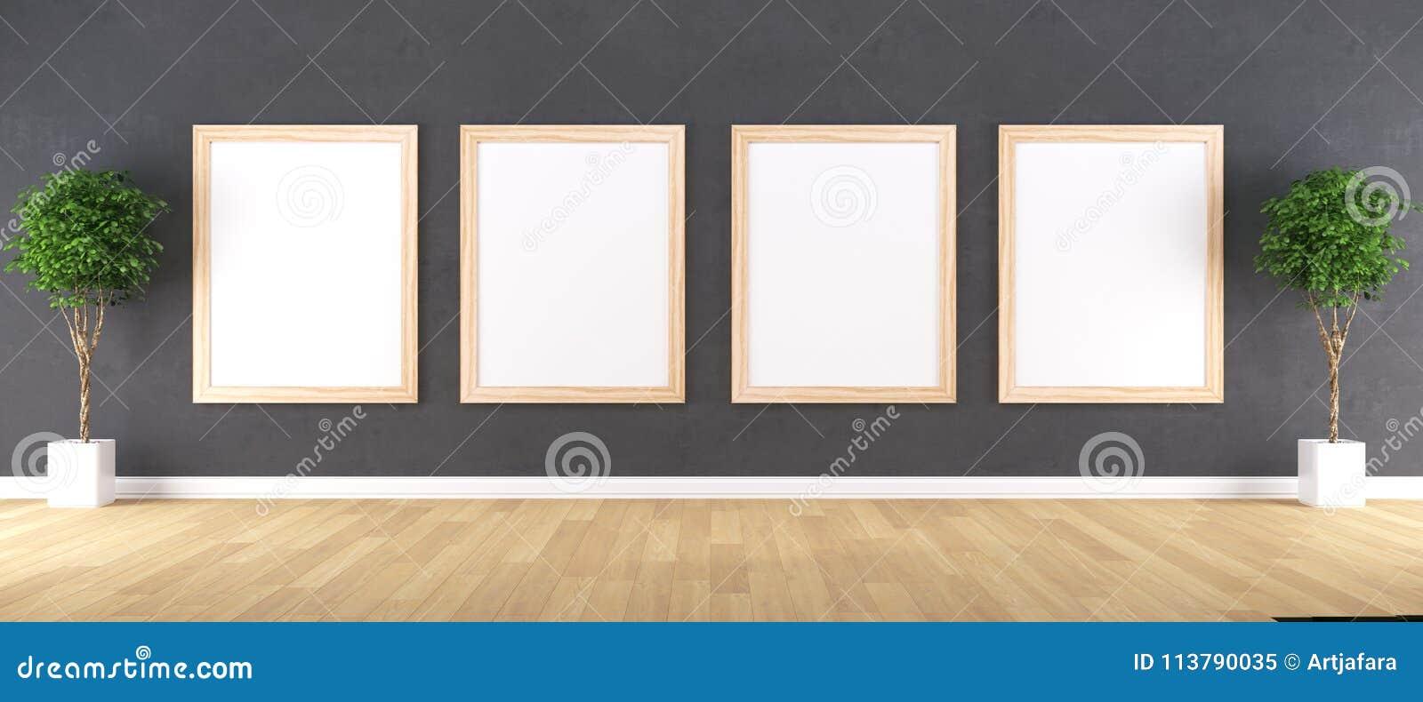 Quadro de madeira com modelo do cartaz