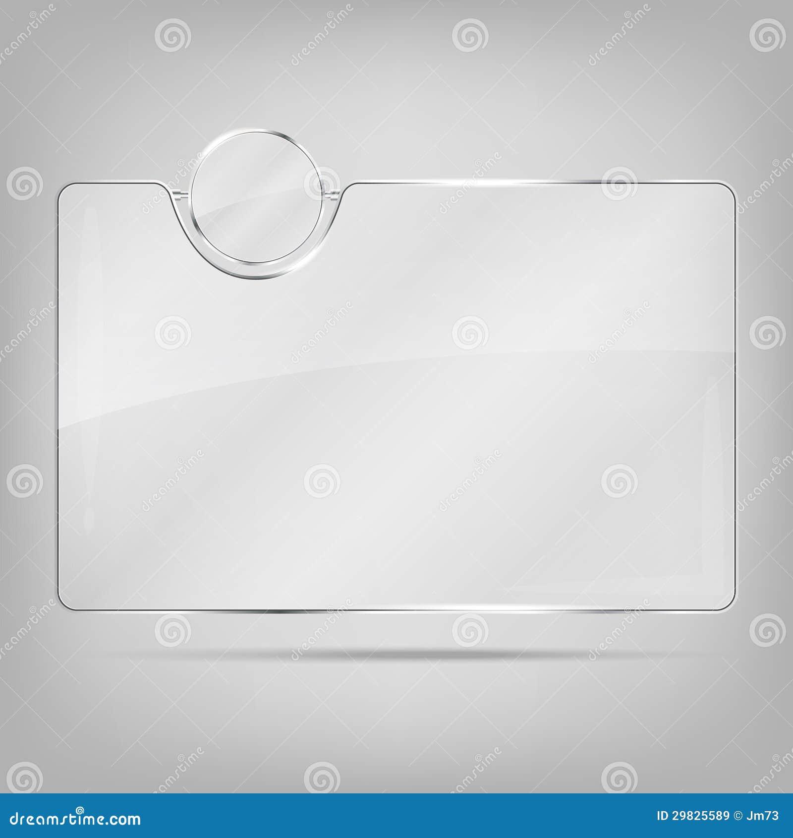 Quadro de vidro transparente