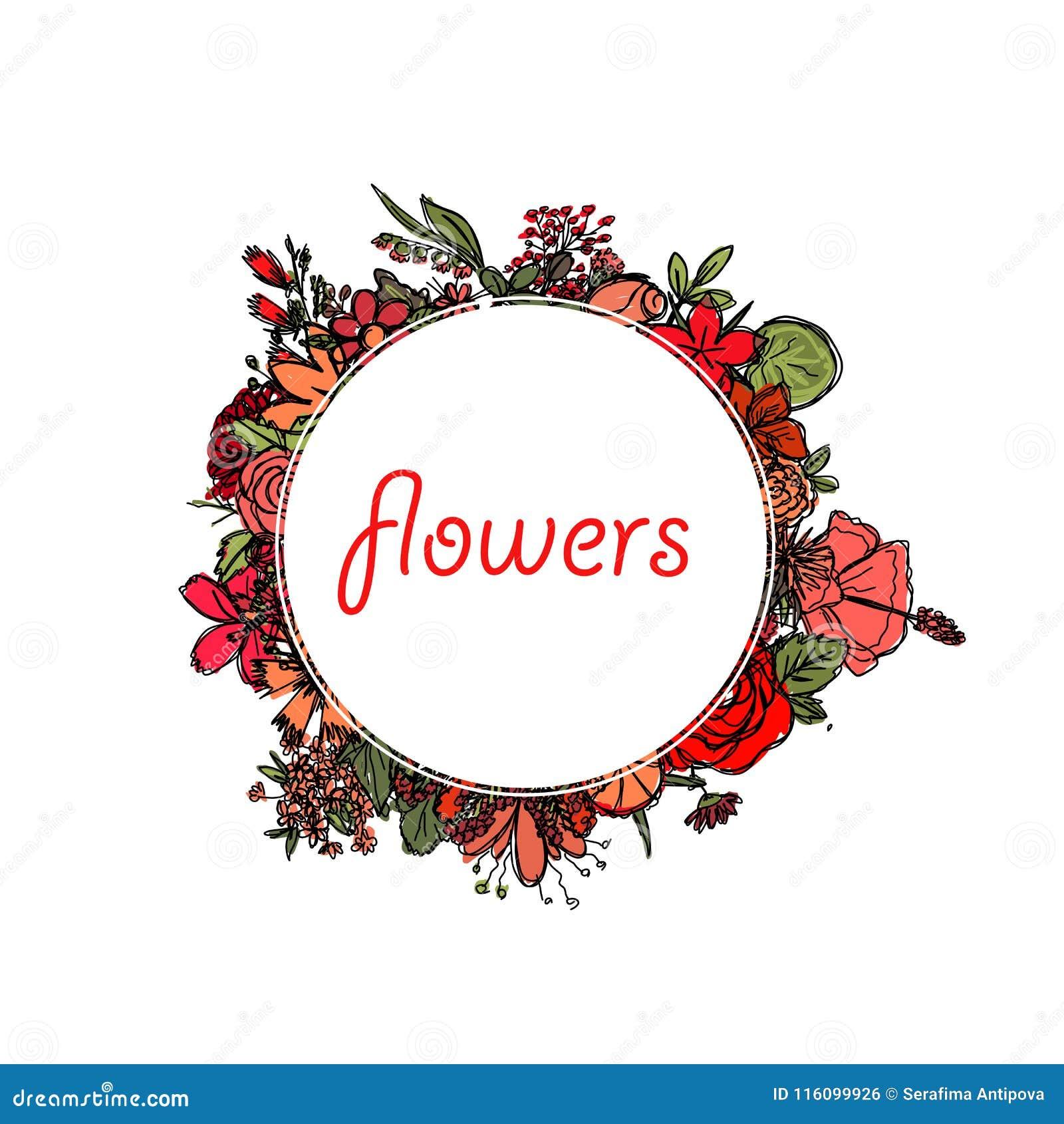 Quadro Decorativo Redondo Com Inscricao No Centro E Com As Flores