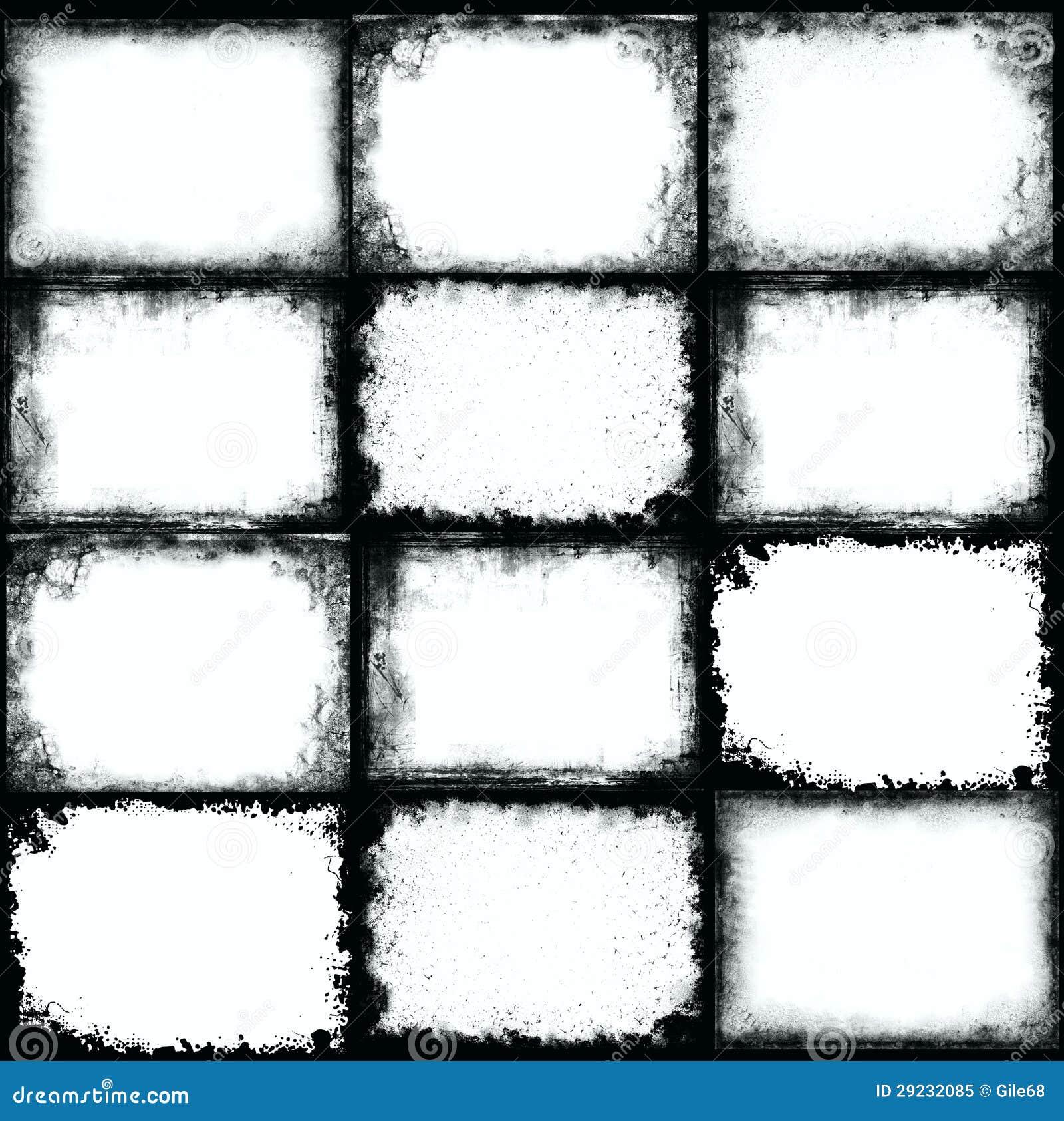 Download Quadro do Grunge ilustração stock. Ilustração de gotejamento - 29232085