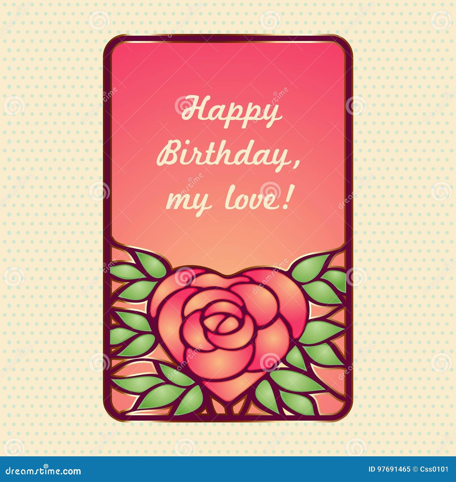 03f2e2a36 Quadro Do Vintage Com A Flor Cor-de-rosa Coração-dada Forma ...