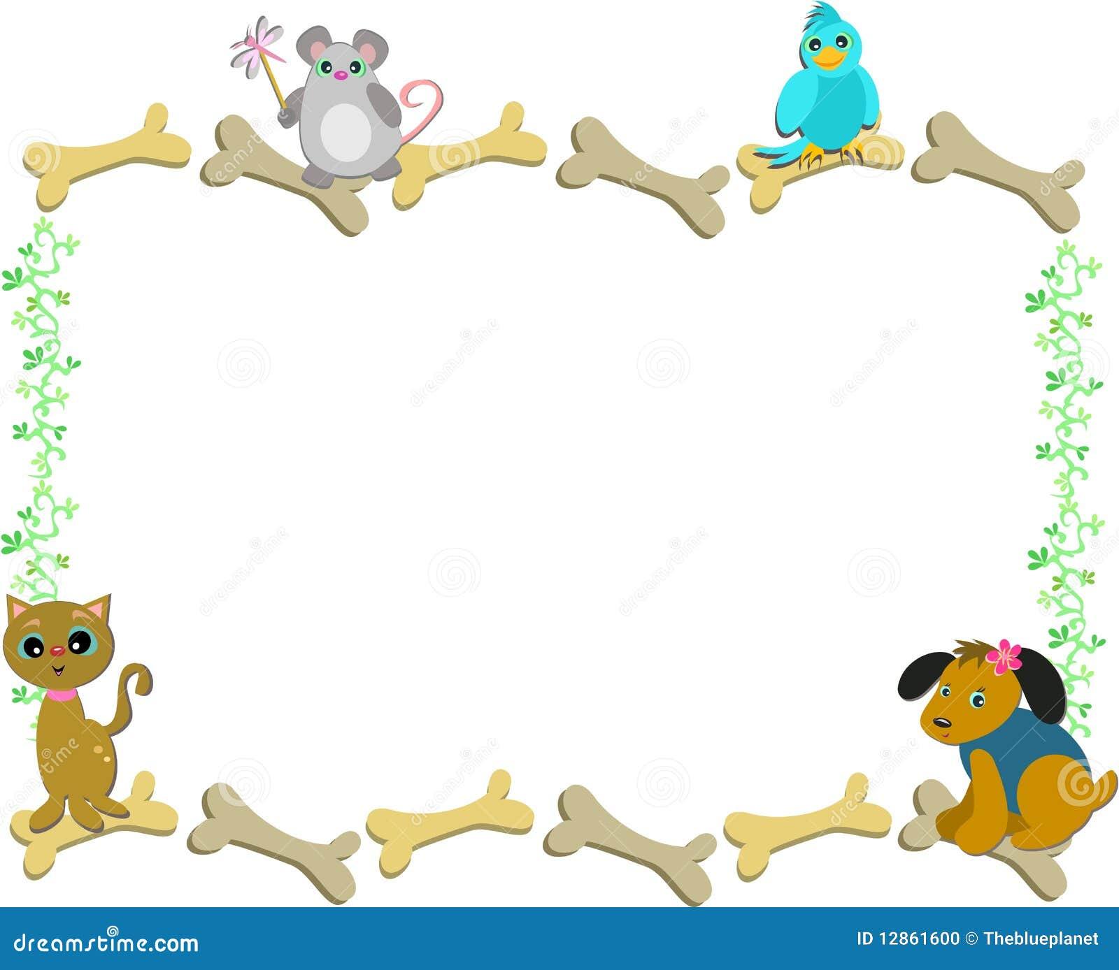 Quadro dos animais de estimação e dos ossos