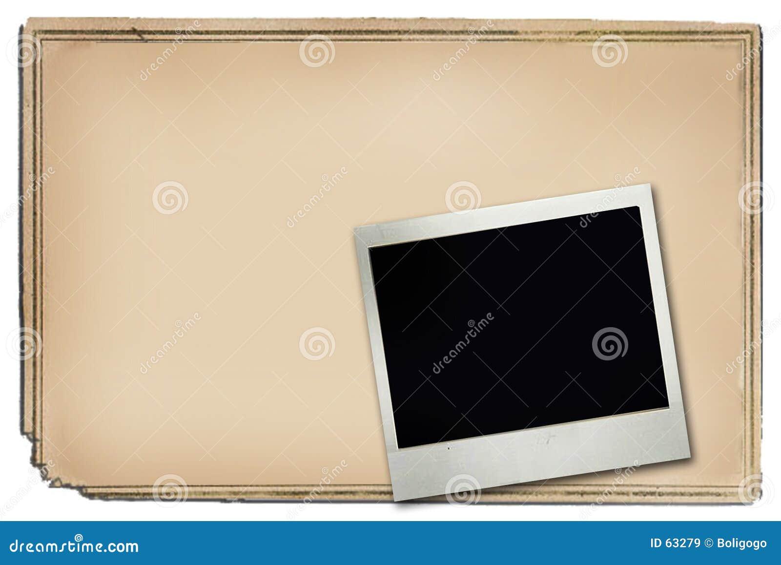 Quadro e polaroid do poster