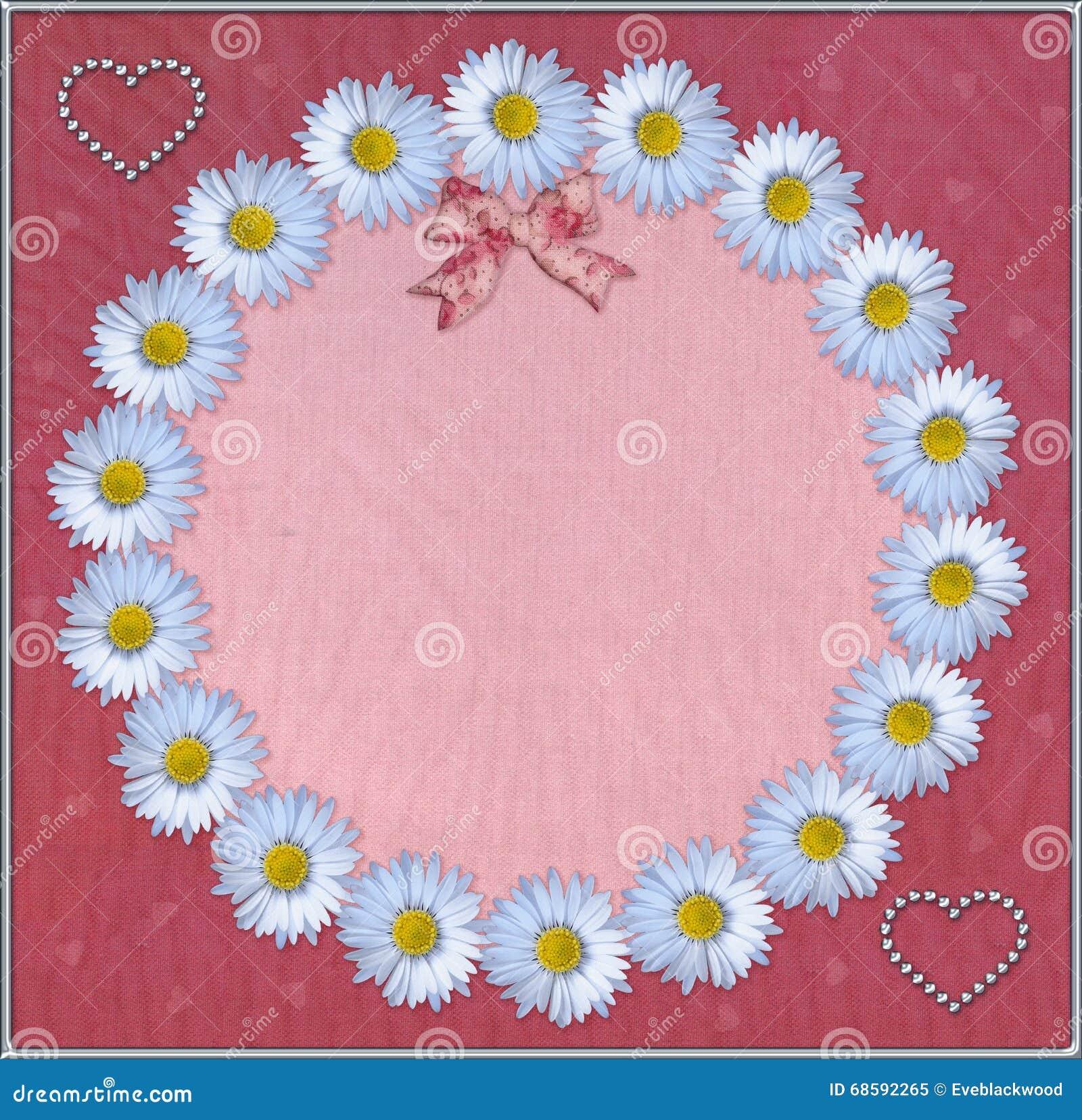 Quadro floral com fundo do tule