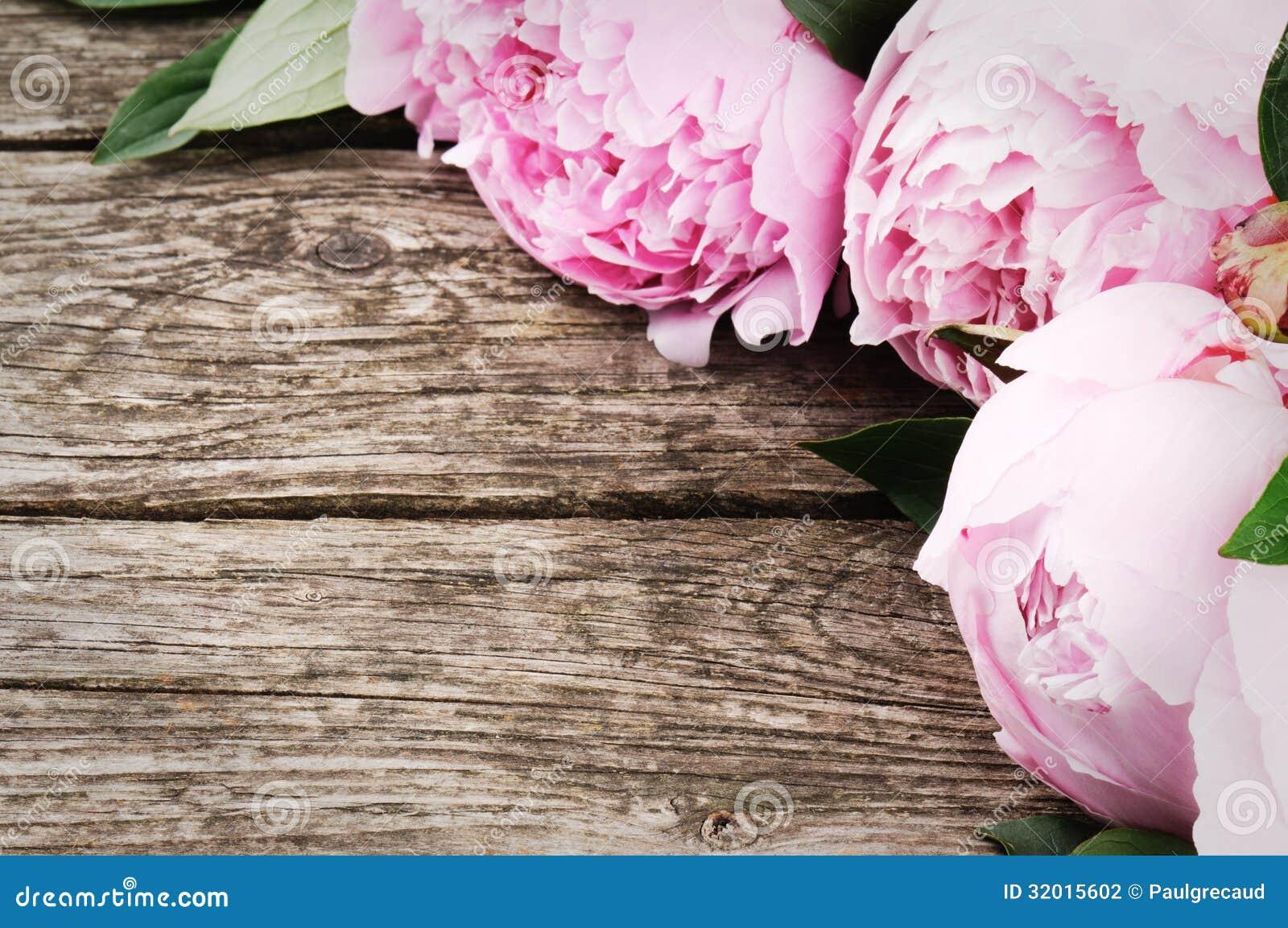 Quadro floral com peônias cor-de-rosa