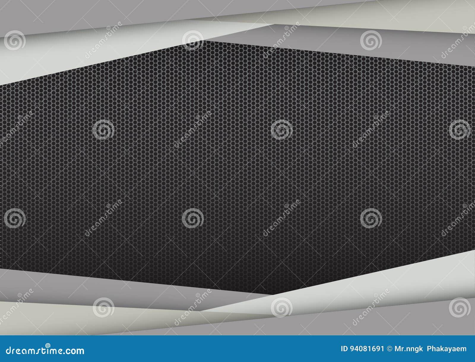 Quadro moderno abstrato geométrico cinzento ilustração do vetor