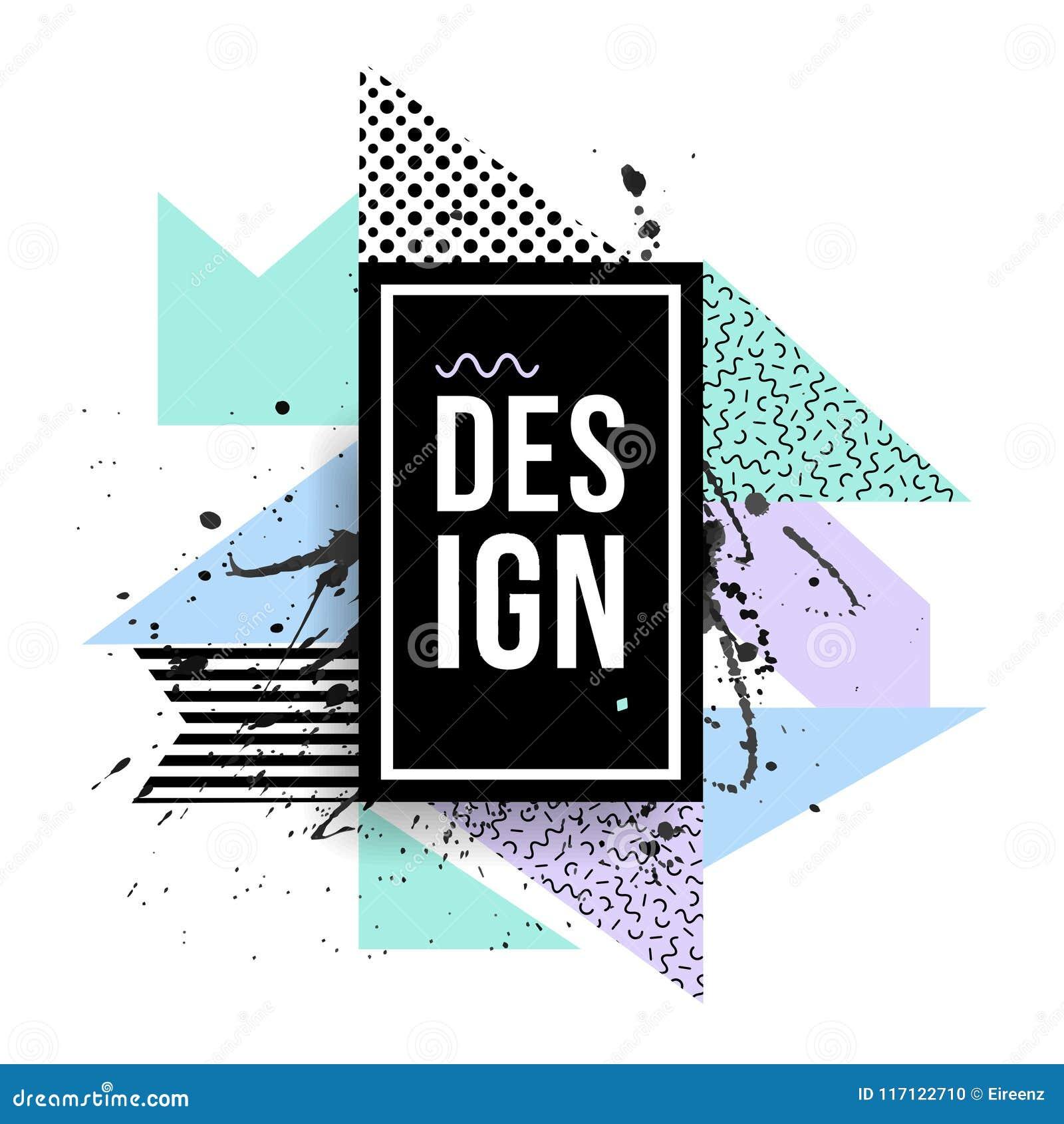 Quadro moderno criativo do vetor com formas geométricas