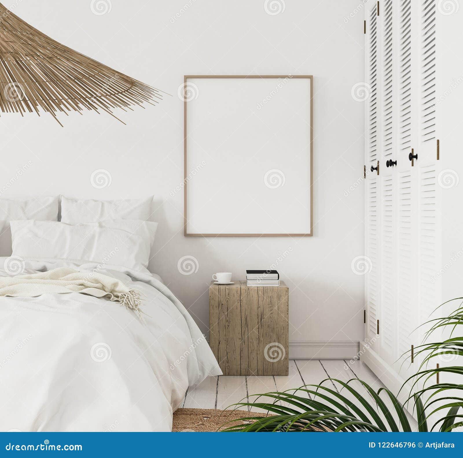 Quadro no quarto, estilo escandinavo do cartaz do modelo