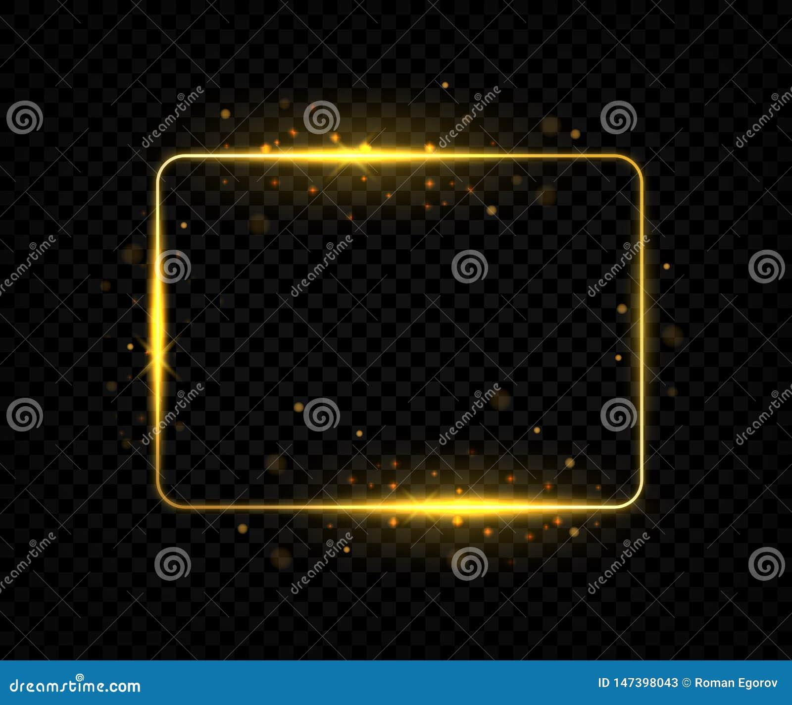 Quadro quadrado dourado E Vetor