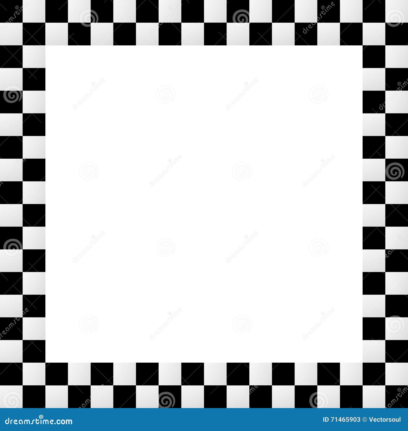 Quadro quadriculado squarish vazio, beira