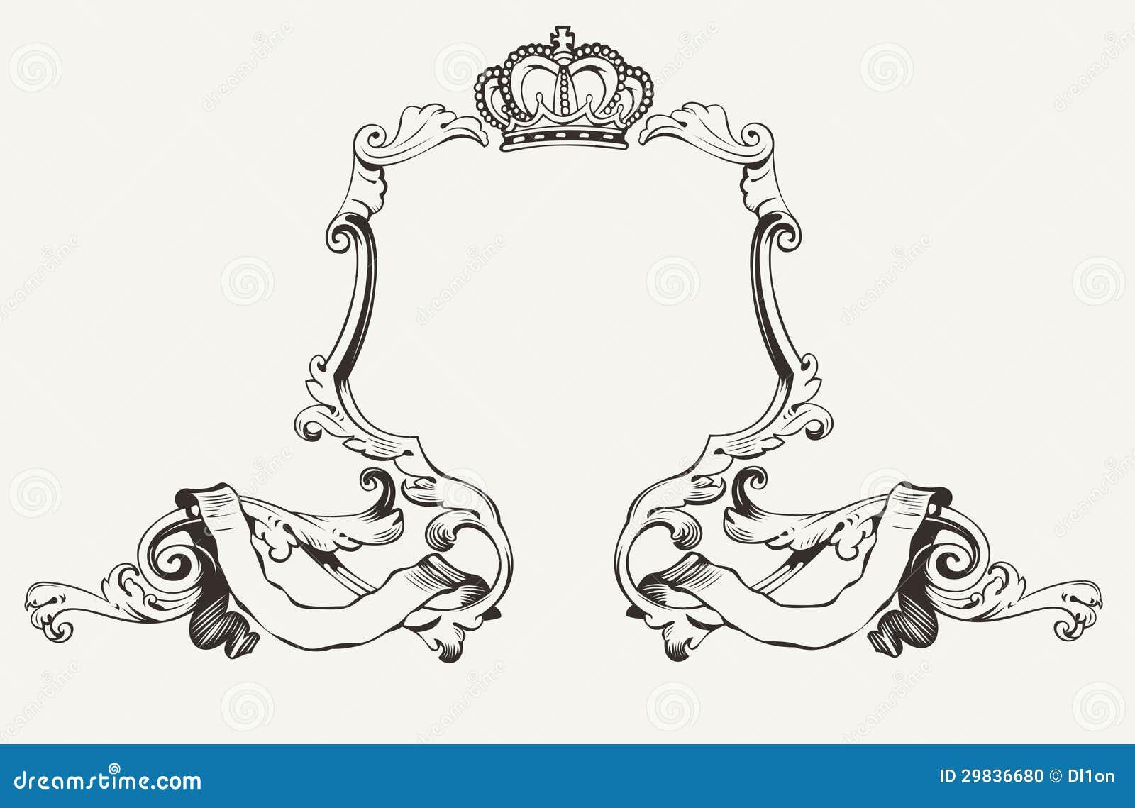 Quadro real elegante com coroa