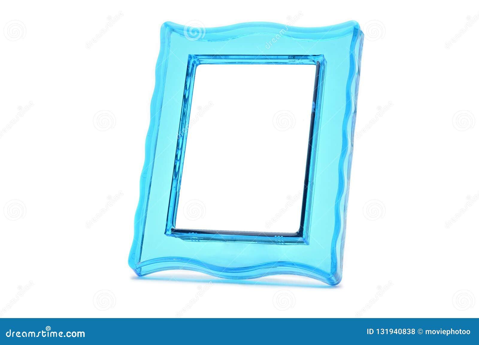 Quadro transparente do foto a cores de turquesa do vintage em um w isolado