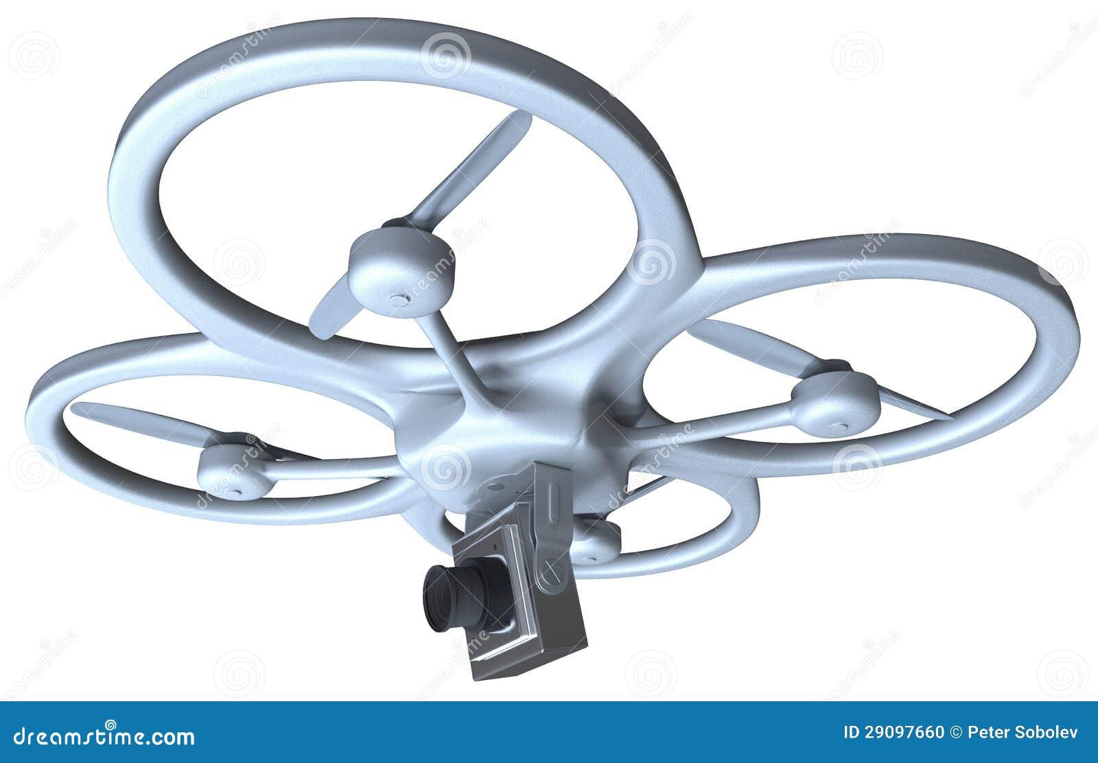 quadrocopter mit kamera stock abbildung bild von ansicht 29097660. Black Bedroom Furniture Sets. Home Design Ideas