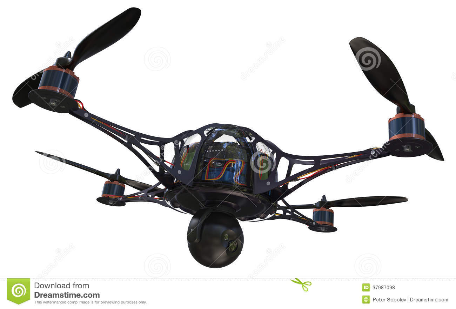 quadrocopter mit kamera lizenzfreie stockfotos bild. Black Bedroom Furniture Sets. Home Design Ideas