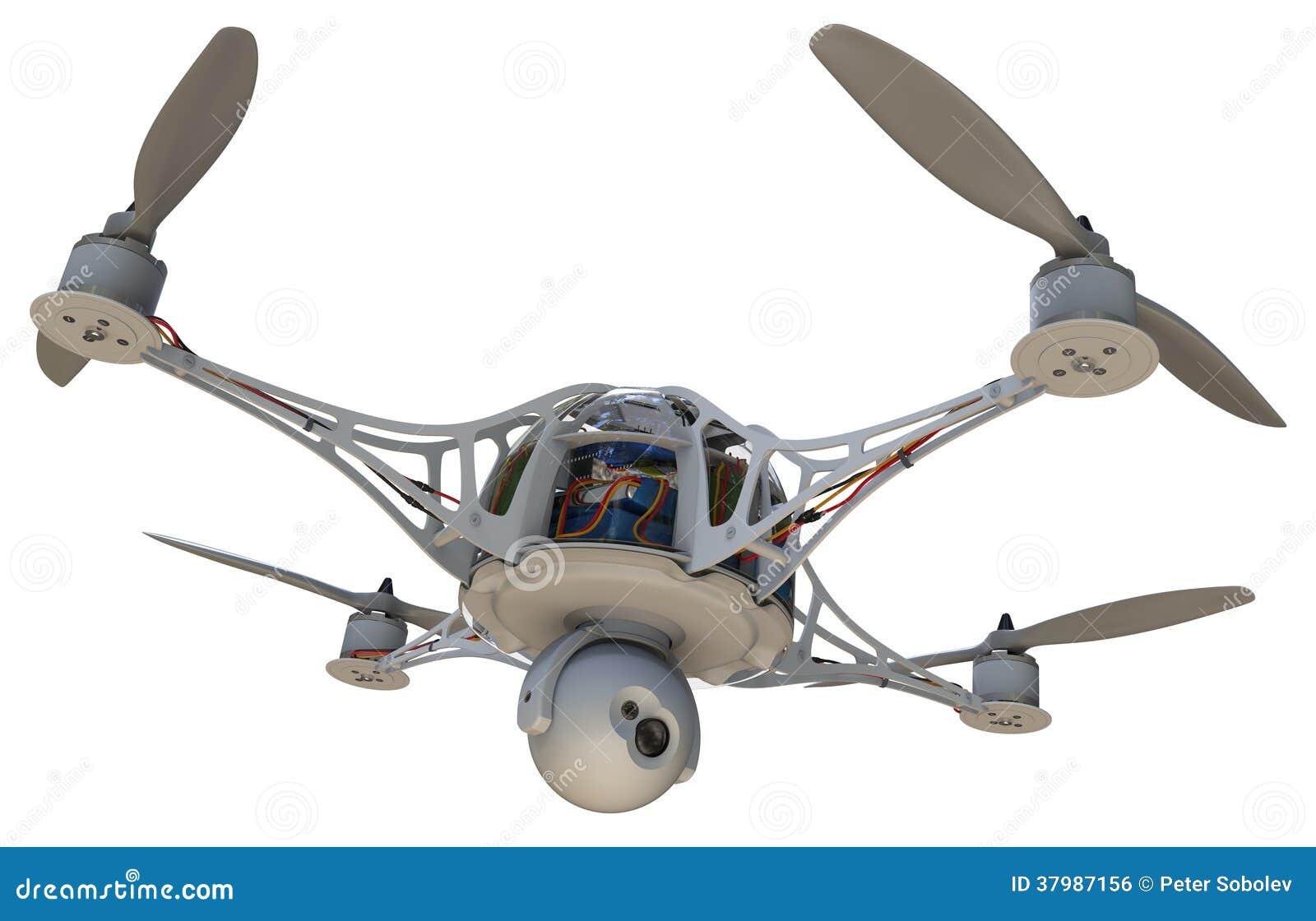 quadrocopter mit kamera lizenzfreies stockbild bild. Black Bedroom Furniture Sets. Home Design Ideas